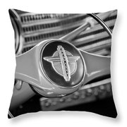 1941 Chevrolet Steering Wheel Emblem Throw Pillow