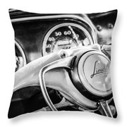 1941 Lincoln Continental Coupe Steering Wheel Emblem -0858c Throw Pillow