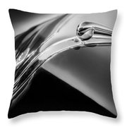 1941 Lincoln Contitnental Convertible Hood Ornament - Grille Emblem -0438bw Throw Pillow