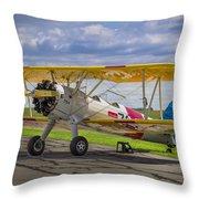 1943 Boeing Stearman Throw Pillow