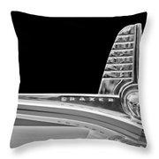 1947 Kaiser-frazer Hood Ornament Throw Pillow