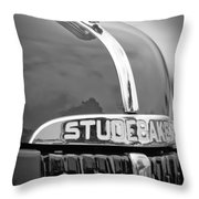 1947 Studebaker M5 Pickup Truck Grill Emblem - Hood Ornament Throw Pillow