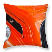 1948 Anglia 2-door Sedan Grille Emblem Throw Pillow