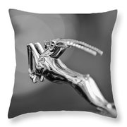 1948 Chrysler Town And Country Convertible Hood Ornament Throw Pillow