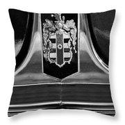1948 Dodge D24 Club Coupe Emblem Throw Pillow by Jill Reger