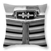 1948 International Hood Emblem Throw Pillow