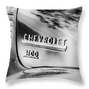 1949 Chevrolet 3100 Pickup Truck Emblem Throw Pillow
