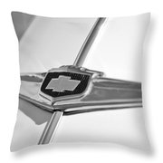 1949 Chevrolet Sedan Hood Emblem Throw Pillow