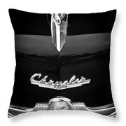 1949 Chrysler Town And Country Convertible Hood Ornament And Emblems Throw Pillow