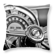 1949 Chrysler Town And Country Convertible Steering Wheel Emblem Throw Pillow