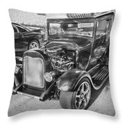 1949 Ford Pick Up Truck Bw Throw Pillow