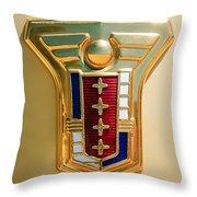 1949 Mercury Station Wagon Emblem Throw Pillow