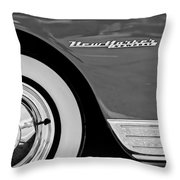 1950 Chrysler New Yorker Coupe Wheel Emblem Throw Pillow