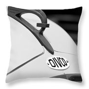 1950 Divco Milk Truck Hood Ornament Throw Pillow