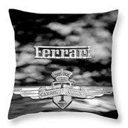 1950 Ferrari Emblem Throw Pillow