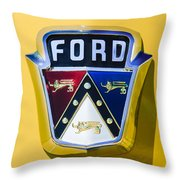 1950 Ford Custom Deluxe Station Wagon Emblem Throw Pillow