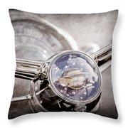 1950 Oldsmobile Rocket 88 Steering Wheel Emblem Throw Pillow