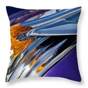 1950 Pontiac Hood Ornament Throw Pillow