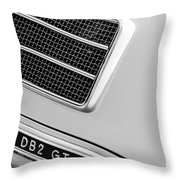 1951 Aston Martin Db2 Coupe Side Emblem Throw Pillow