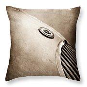 1951 Jaguar Grille Emblem Throw Pillow