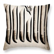 1951 Mercury Custom Emblem Throw Pillow