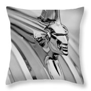 1951 Pontiac Streamliner Hood Ornament Throw Pillow by Jill Reger