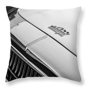 1952 Cunningham C-3 Coupe Hood Emblem Throw Pillow