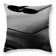 1952 Ferrari 212 225 Barchetta Hood Emblems Throw Pillow