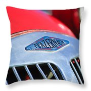 1952 Frazer-nash Le Mans Replica Mkii Competition Model Grille Emblem Throw Pillow