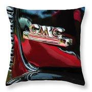 1952 Gmc Suburban Emblem Throw Pillow