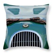 1952 Jaguar Xk 120 John May Speciale Grille Emblem Throw Pillow