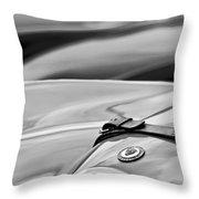 1952 Jaguar Xk 120 John May Speciale Hood Emblem Throw Pillow