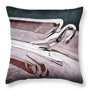 1952 Packard 400 Hood Ornament Throw Pillow