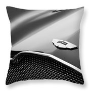 1953 Aston Martin Db2-4 Bertone Roadster Hood Emblem Throw Pillow
