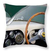 1953 Ferrari 340 Mm Lemans  Spyder Steering Wheel Emblem Throw Pillow