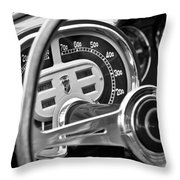 1953 Fiat 8v Ghia Supersonic Steering Wheel Throw Pillow