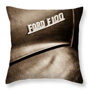1953 Ford F-100 Pickup Truck Emblem Throw Pillow