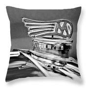 1953 Morgan Plus 4 Le Mans Tt Special Hood Ornament Throw Pillow