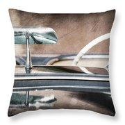 1954 Chevrolet Corvette Rearview Mirror Throw Pillow