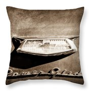 1954 Chevrolet Power Glide Emblem Throw Pillow