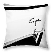1954 Lincoln Capri Convertible Emblem Throw Pillow