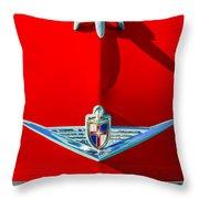 1954 Lincoln Capri Hood Ornament Throw Pillow