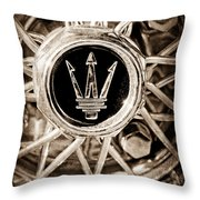 1954 Maserati A6 Gcs Wheel Rim Emblem Throw Pillow