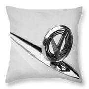 1955 Buick Special Hood Ornament Throw Pillow