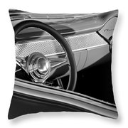 1955 Chevrolet 210 Steering Wheel Throw Pillow