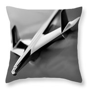 1955 Chevrolet Belair Nomad Hood Ornament Throw Pillow by Jill Reger
