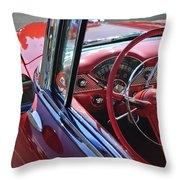 1955 Chevrolet Belair Steering Wheel Throw Pillow