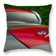 1955 Fiat 8v Zagato Hood Emblem Throw Pillow