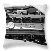 1955 Jaguar Engine Throw Pillow