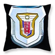 1955 Mercury Montclair Convertible Emblem Throw Pillow